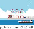 貨船 貨輪 貿易港口 21820906