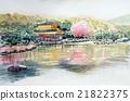금각사의 스케치 세계 유산 교토 관광 21822375