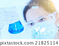 Scientist with laboratory background and concept. 21825114