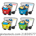 Postman Character is a letter delivered by trucks. 21830577