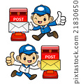 Postman Character and letterbox. 21830650