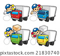 Courier are the phone calls of the truck driver 21830740