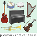 Musical instruments set 21831431