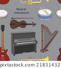 Musical instruments pattern 21831432