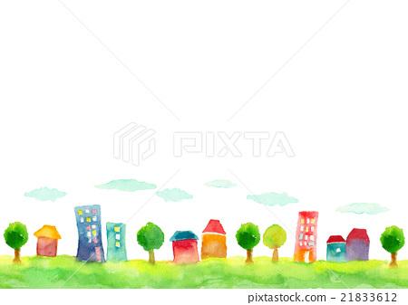 背景都市風景例證 21833612