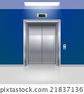 蓝色 门 电梯 21837136