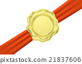 gold, red, seal 21837606
