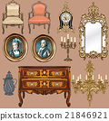 Collection of objects style Louis XV 21846921
