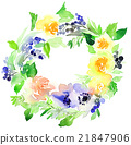 Flowers watercolor illustration 21847906