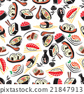 Seamless pattern of traditional japanese cuisine  21847913