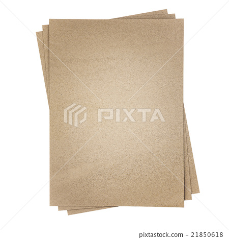 Brown sandpaper, isolated on white background 21850618