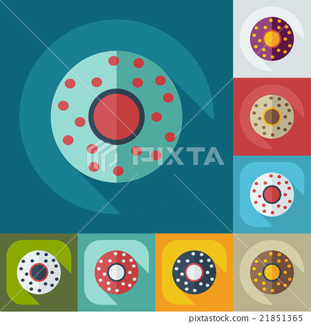 Flat modern design with shadow icons saucer 21851365