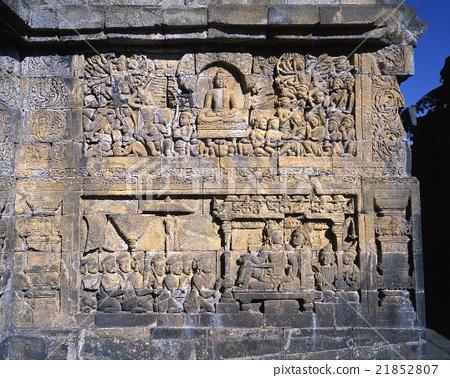 First corridor relief of Borobudur ruins 21852807