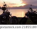 Bike and sunset 21855180