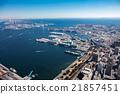 (橫濱)山下公園 卸貨到碼頭上 直升機拍攝 21857451