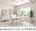 Interior of dining room 3d rendering 21858836