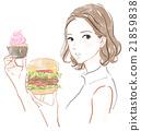 垃圾食品 漢堡 紙杯蛋糕 21859838