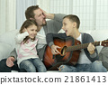 family, guitar, music 21861413