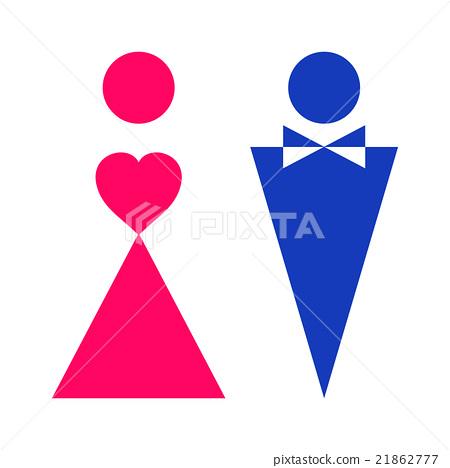 Symbols Of Gender Stock Illustration 21862777 Pixta