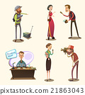 Journalist retro cartoon set 21863043