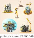 Construction cartoon set 21863046