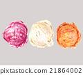 Set of three watercolor balls ice cream 21864002
