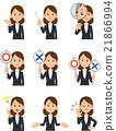 職業婦女9種手勢和麵部表情 21866994