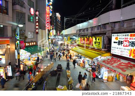 Ueno Ameyoko night view 21867343