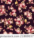 花朵 矢量 紡織品 21869037