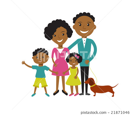 Happy African American family  21871046