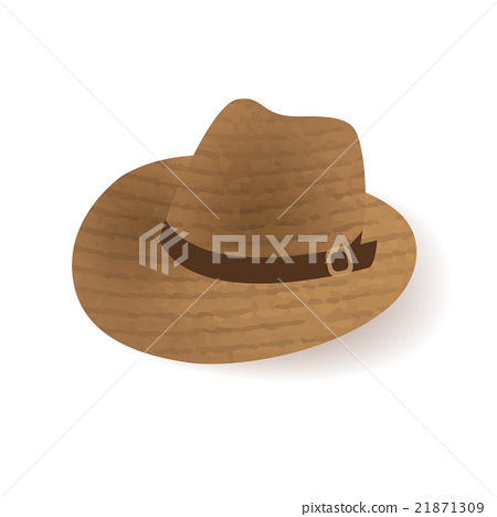 Old west sheriff Cowboy hat icon 21871309