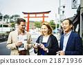 Foreign tourists visiting Kamakura 21871936