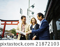 外國遊客參觀鎌倉 21872103