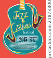 Jazz and Blues Hand Drawn Poster 21873800