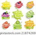 Set of labels splash. 21874269