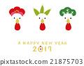 竹与梅 矢量 鸡肉 21875703