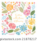 Hand drawn floral collection 21878217