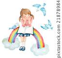 彩虹和藍鳥 21878984