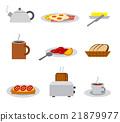 breakfast icon set 21879977