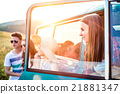 Group of teenage hipsters on a roadtrip, campervan 21881347