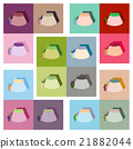 Modern flat icons vector collection with shadow 21882044