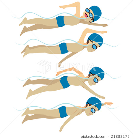 Swimming Man Free Stroke Style 21882173
