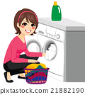 Woman Washing Machine 21882190