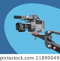 dv-camcorder on crane 21890049