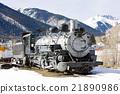 old steam locomotive, Silverton, Colorado, USA 21890986