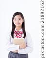 初中生 中學生 咧嘴笑 21892162