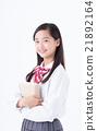 初中生 中學生 咧嘴笑 21892164