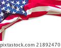 American flag border isolated 21892470