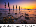 Sunset seascape, Beach in Thailand.  21892475
