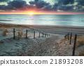 sunshine on sand path to sand beach 21893208